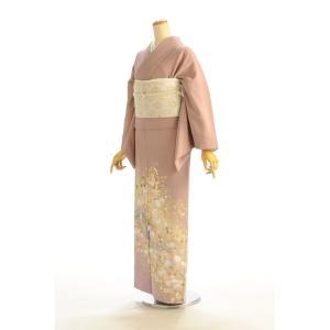 色留袖 レンタル 藤色輝のバラ 桂由美 身長 157cm〜169cm位 高級 正絹 着物レンタル 結...