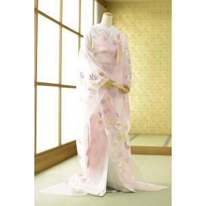 色打掛 レンタル 身長150cm〜165cm位 結婚式 花嫁衣装 和装 着物レンタル 貸衣装 前撮り 打ち掛け オーガンジー打掛 フォトブックプレゼント|frou-frou
