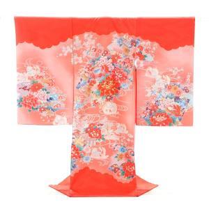お宮参り 女の子 レンタル 初着 産着 花のおしどり 着物レンタル フォトブックプレゼント 着せ方マニュアル付き|frou-frou