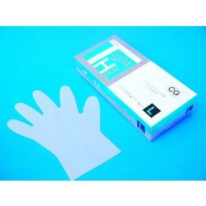 PEポリエチレン手袋 シンガータイトハンド 100枚入 /箱 クリア Lサイズ|frp