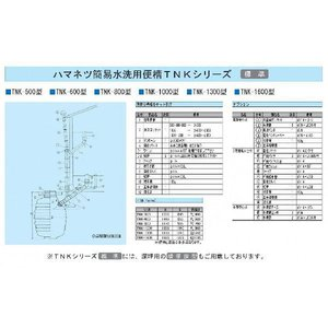 簡易水洗便層 1300リットル TMK-1300 frp