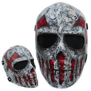 フェイスガード Skull Red X 【即納可】|frps