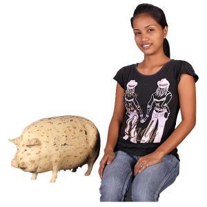 斑点模様の豚(小) FRPアニマルオブジェ 即納可|frps|05
