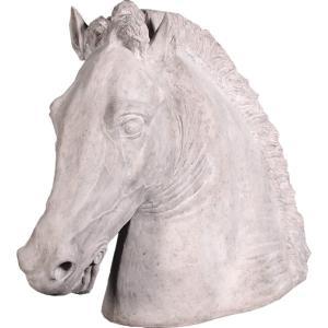 乗馬ウマの頭部 FRPアニマルオブジェ|frps