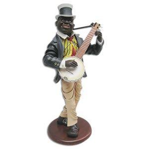 バンジョーを演奏する人 FRPオブジェ 即納可|frps