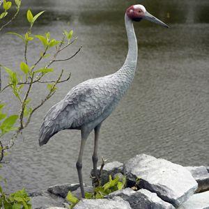FRPアニマルオブジェ 湖畔の豪州鶴|frps