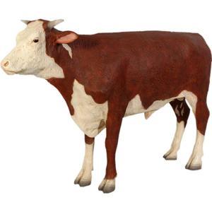 ヘレフォードの雄牛 FRPアニマルオブジェ|frps