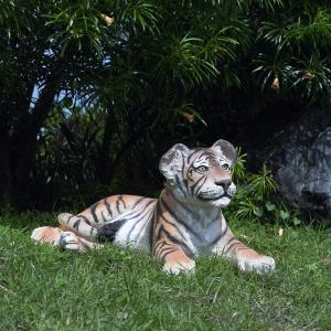 見つめる子タイガー FRPアニマルオブジェ 即納可|frps