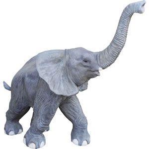 鼻を高く突き上げる子ゾウ FRPアニマルオブジェ 即納可|frps