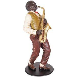 サキソホンを演奏する人 FRPオブジェ 即納可|frps