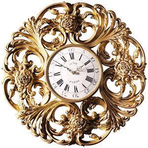 FRPオブジェ バラ模様の壁掛け時計|frps