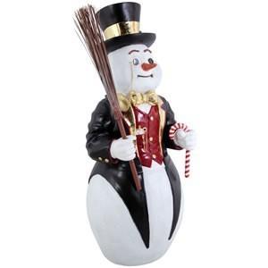 紳士なスノーマン FRPクリスマスオブジェ 即納可|frps