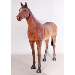 強壮と立ち振る舞う馬 FRPアニマルオブジェ|frps|02