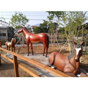 強壮と立ち振る舞う馬 FRPアニマルオブジェ|frps|03
