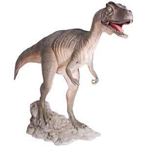 口を大きく開けるアロサウルス FRP恐竜オブジェ|frps