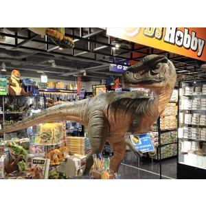 口を大きく開けるアロサウルス FRP恐竜オブジェ|frps|02