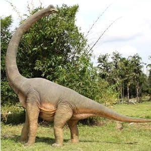 FRP恐竜オブジェ 振り向くブラキオサウルス|frps
