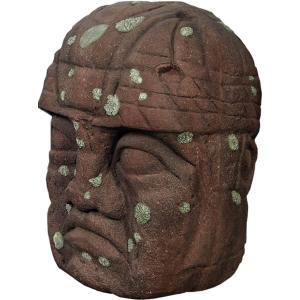 オルメカの頭・石像・120センチ FRPオブジェ|frps