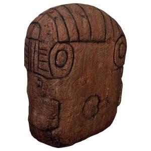 オルメカの頭・石像・170センチ FRPオブジェ|frps|06