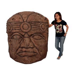 オルメカの頭・石像・170センチ FRPオブジェ|frps|07