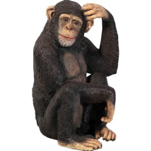 チンパンジー FRPアニマルオブジェ 即納可|frps
