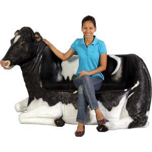 乳牛のベンチ FRPアニマルオブジェ 即納可|frps