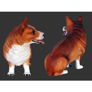 おすわりコーギー犬 FRPアニマルオブジェ 即納可|frps|04