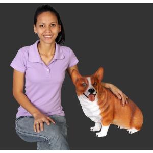 おすわりコーギー犬 FRPアニマルオブジェ 即納可|frps|07