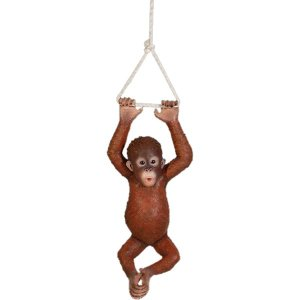 ぶらさがるオランウータンの赤ちゃん FRPアニマルオブジェ 即納可|frps