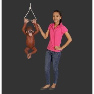 ぶらさがるオランウータンの赤ちゃん FRPアニマルオブジェ 即納可|frps|05