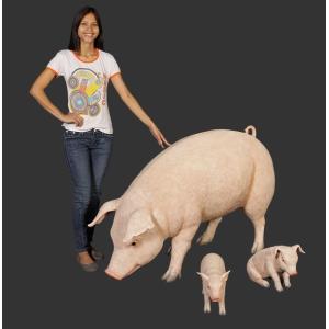すわる子豚 FRPアニマルオブジェ 即納可|frps|05