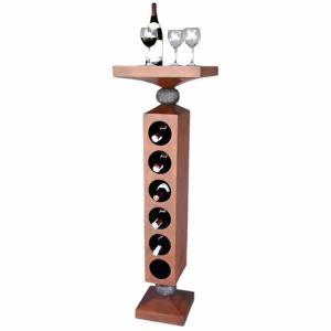 FRPワインホルダー ナイス!ワインタワー(ウォールナット仕上げ)|frps