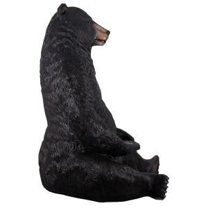 巨大な黒クマ FRPアニマルオブジェ|frps|04