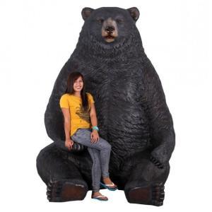 巨大な黒クマ FRPアニマルオブジェ|frps|06