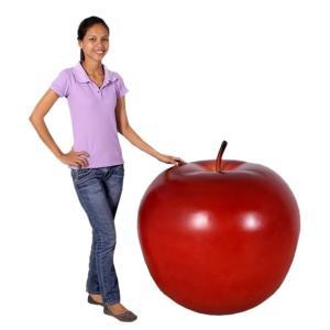 FRPオブジェ 赤リンゴ・80cm frps 06