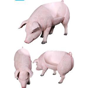 太った豚のベンチ FRPアニマルオブジェ 即納可|frps|04