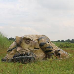 眠るアンキロサウルス FRP恐竜オブジェ|frps
