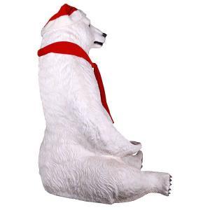 巨大な白クマのサンタ FRPアニマルオブジェ|frps|04