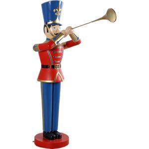 トランペットおもちゃの兵隊184cm FRPオブジェ|frps
