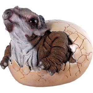 FRP恐竜オブジェ 孵化するトリケラトプス 即納可 frps