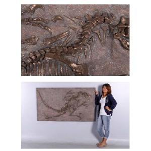 FRP恐竜オブジェ ヴェロキラプトルの化石(ブロンズ仕立て)|frps|05