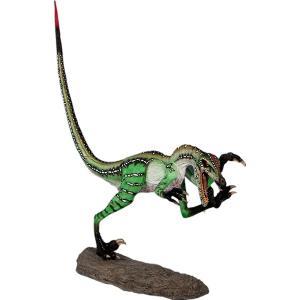 FRP恐竜オブジェ 獰猛なヴェロキラプトル|frps