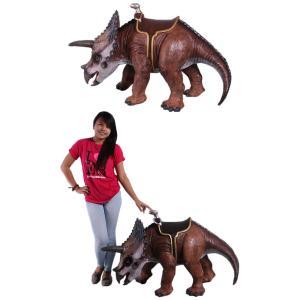 FRP恐竜オブジェ 乗れるトリケラトプス|frps|05