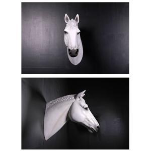 馬の頭部・壁掛け(白馬) FRPアニマルオブジェ|frps|04