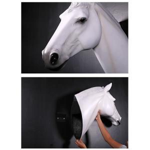 馬の頭部・壁掛け(白馬) FRPアニマルオブジェ|frps|05