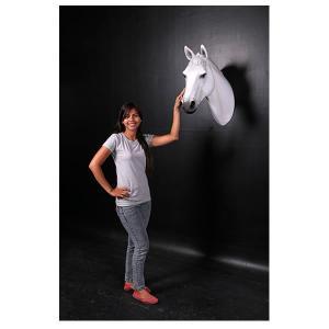 馬の頭部・壁掛け(白馬) FRPアニマルオブジェ|frps|06