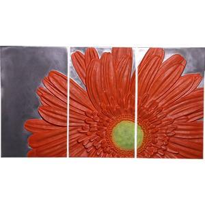 FRPオブジェ ガーベラの3幅絵画|frps