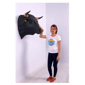 黒毛牛の頭部・壁掛け FRPアニマルオブジェ 即納可|frps|06