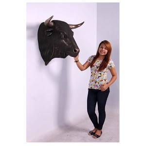 黒毛牛の頭部・壁掛け(ブロンズ) FRPアニマルオブジェ 即納可|frps|06