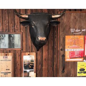黒毛牛の頭部・壁掛け(ブロンズ) FRPアニマルオブジェ 即納可|frps|07